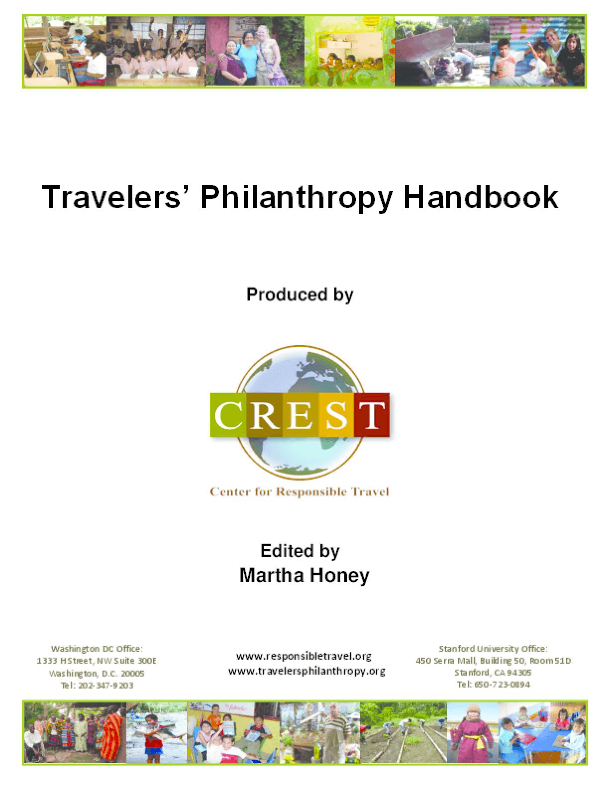 Travelers' Philanthropy Handbook