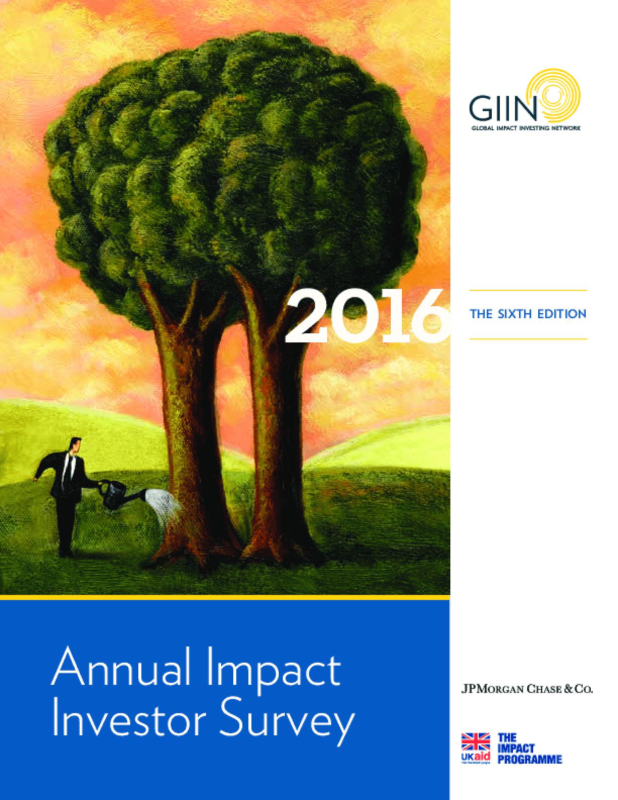 2016 Annual Impact Investor Survey