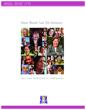 Boston Women's Fund Annual Report FY 09