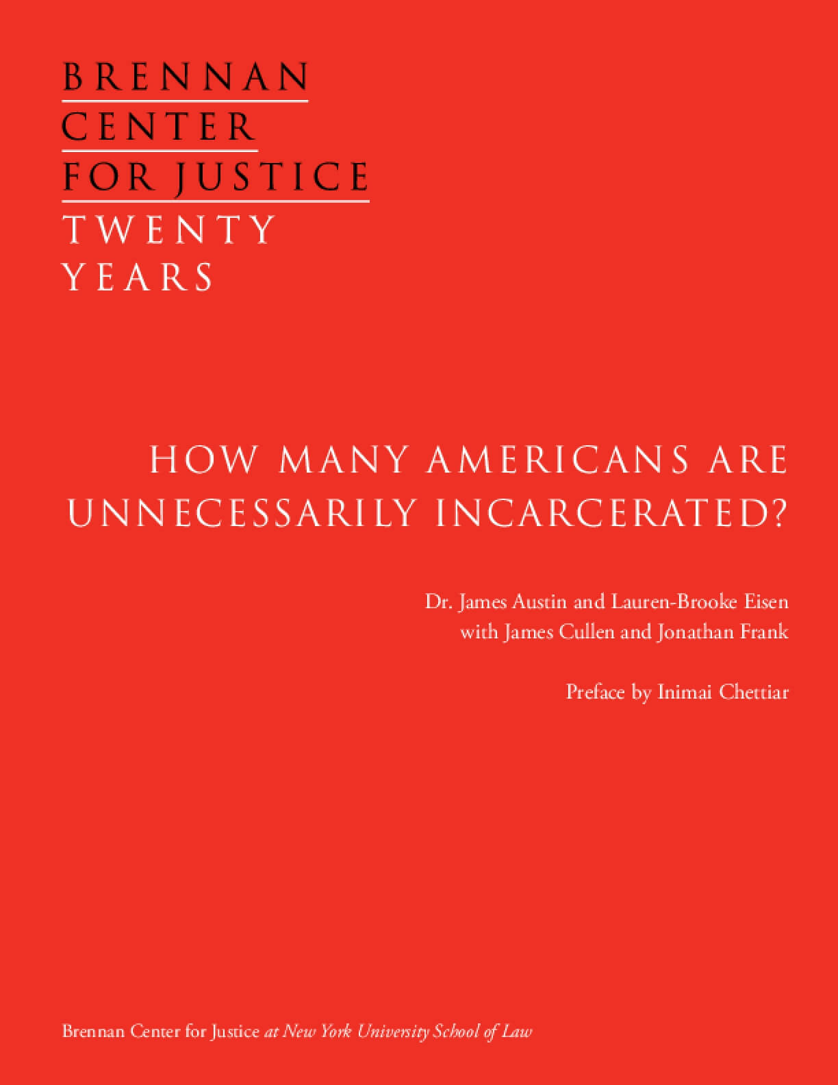 How Many Americans Are Unnecessarily Incarcerated?