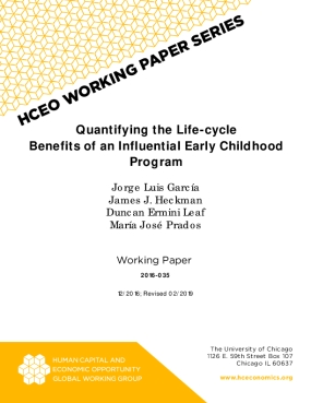 The Life-cycle Benefits of an Influential Early Childhood Program