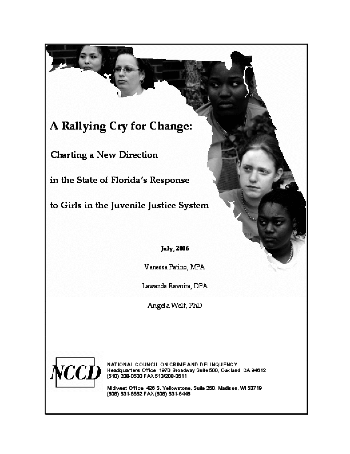 A Rallying Cry for Change: Charting a New Direction in the State of Florida's Response to Girls in the Juvenile Justice System (Full Report)