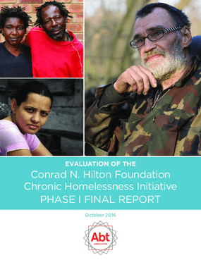 Chronic Homelessness Initiative: 2016 Evaluation Report, Phase I