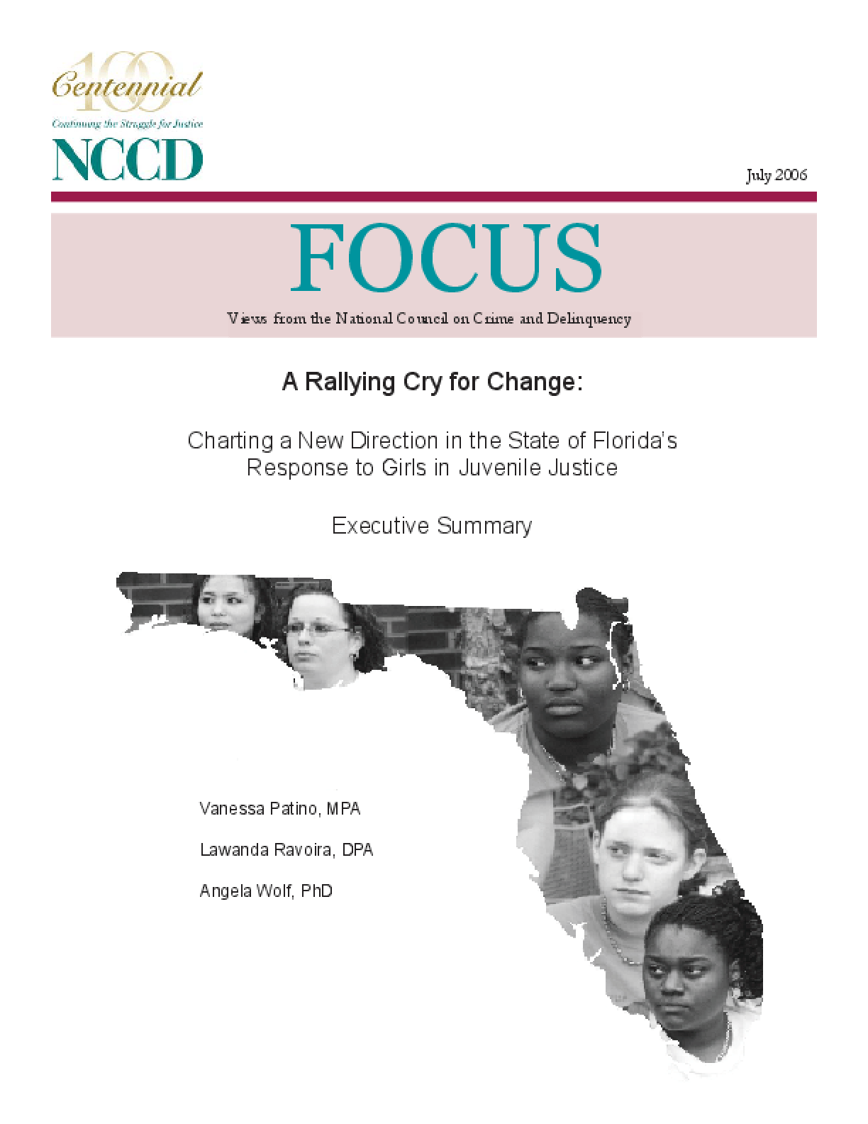 A Rallying Cry for Change: Charting a New Direction in the State of Florida's Response to Girls in Juvenile Justice (Executive Summary) (Focus)