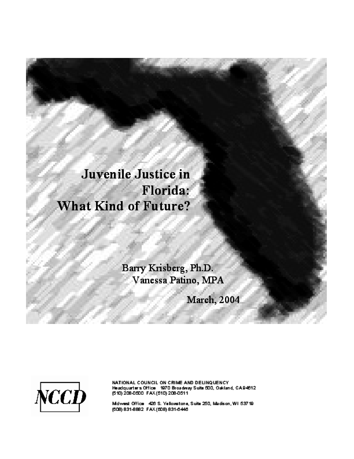 Juvenile Justice in Florida: What Kind of Future?