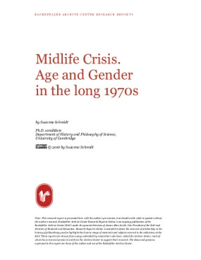 Midlife Crisis. Age and Gender in the long 1970s