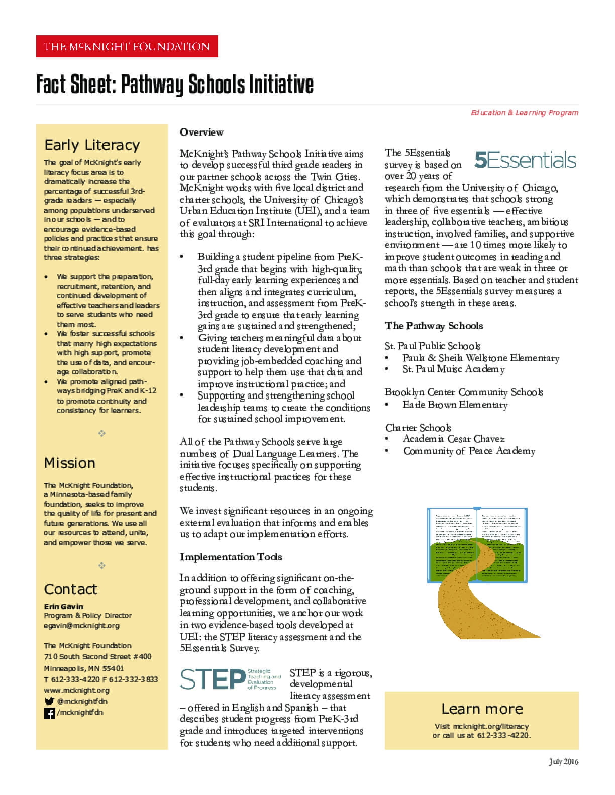 Fact Sheet: Pathway Schools Initiative