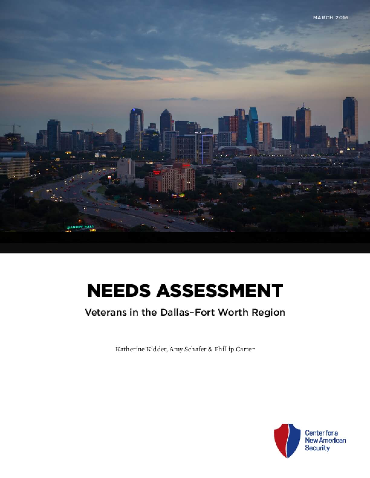 Needs Assessment: Veterans in the Dallas-Fort Worth Region