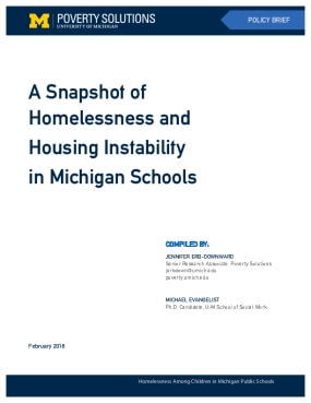 A Snapshot of Homelessness and Housing Instability in Michigan Schools