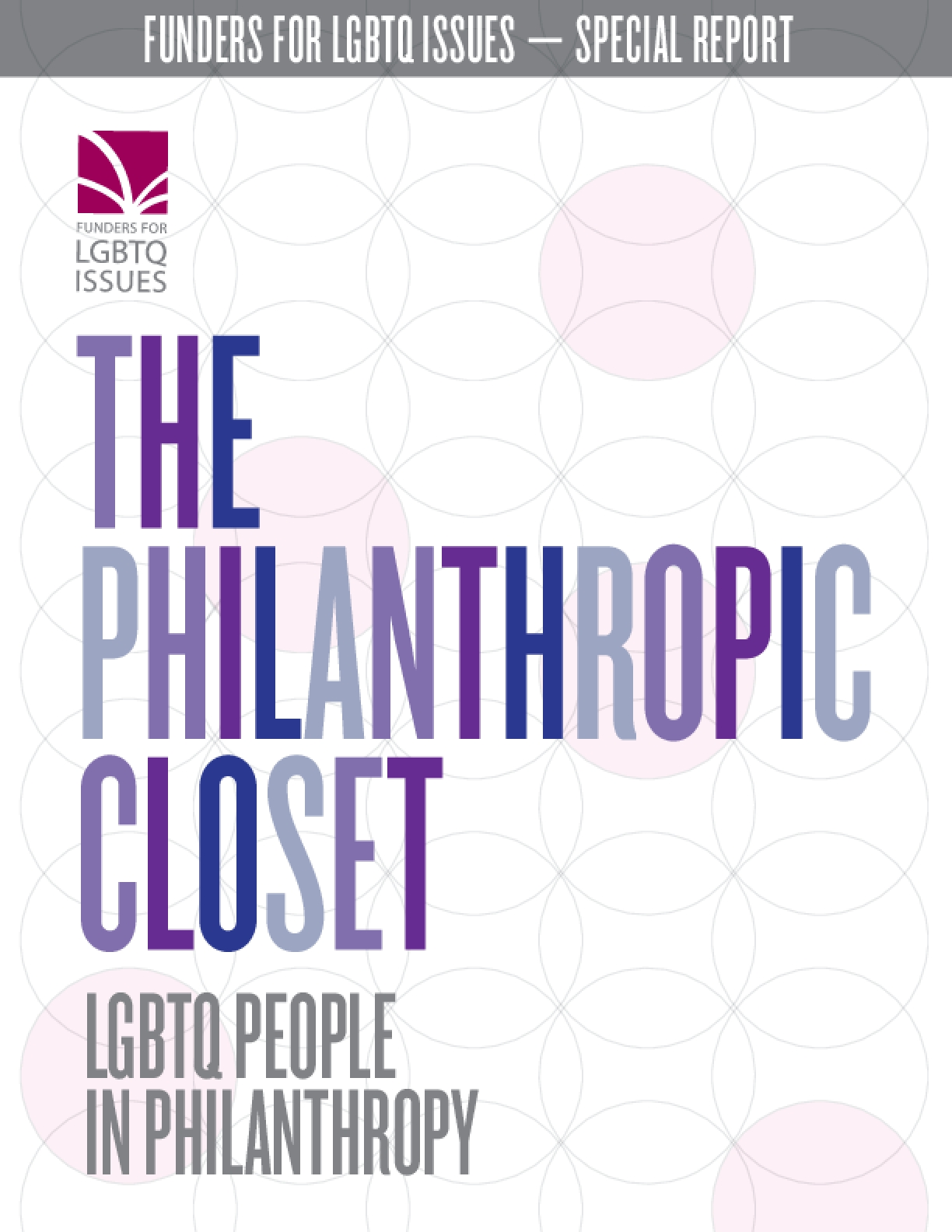 The Philanthropic Closet: LGBTQ People in Philanthropy