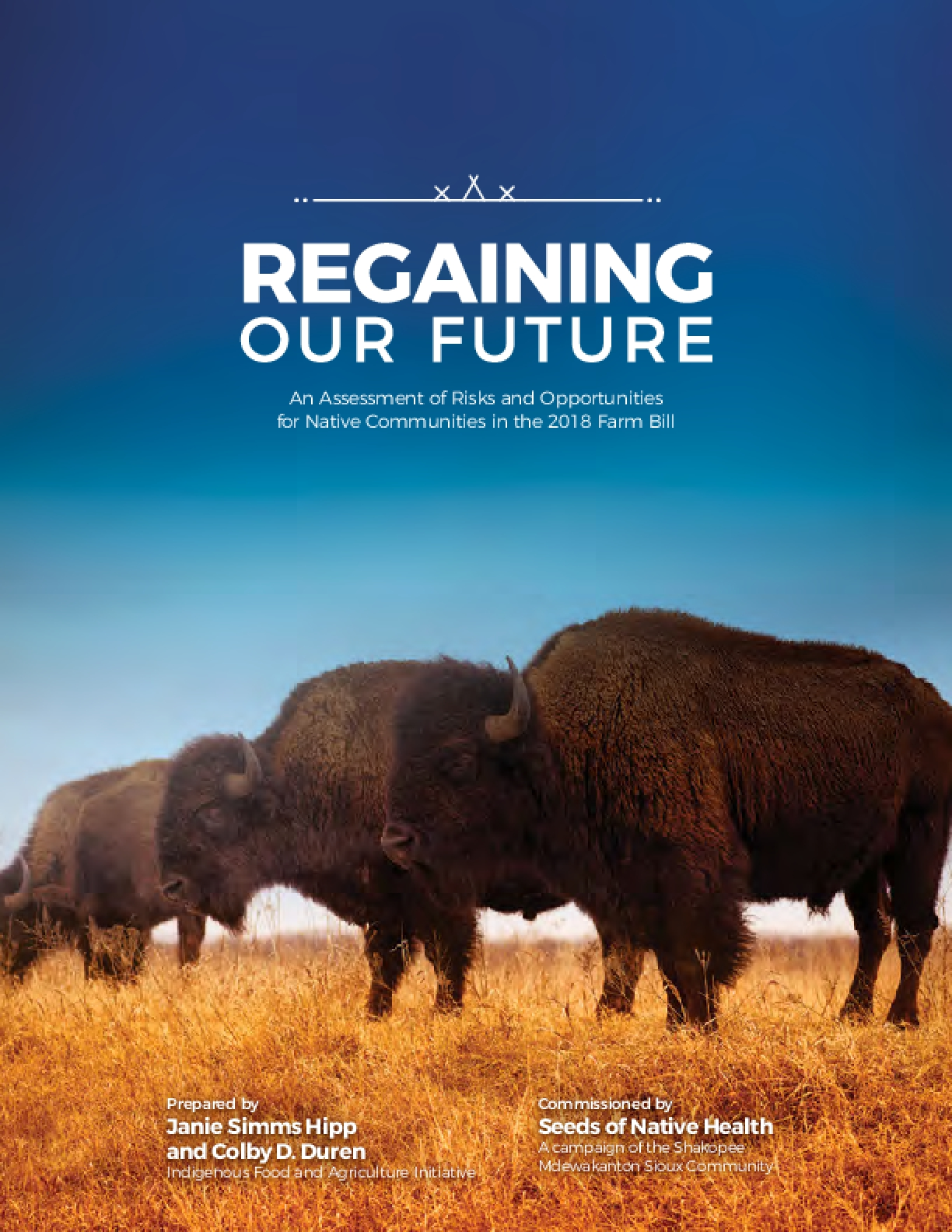 Regaining our Future: An Assessment of Risks and Opportunities for Native Communities in the 2018 Farm Bill