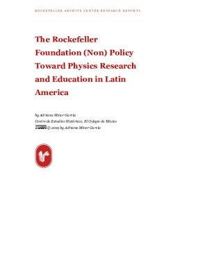 The Rockefeller Foundation (Non) Policy Toward Physics Research and Education in Latin America