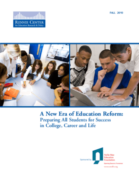 A New Era of Education Reform: Preparing All Students for Success in College, Career and Life