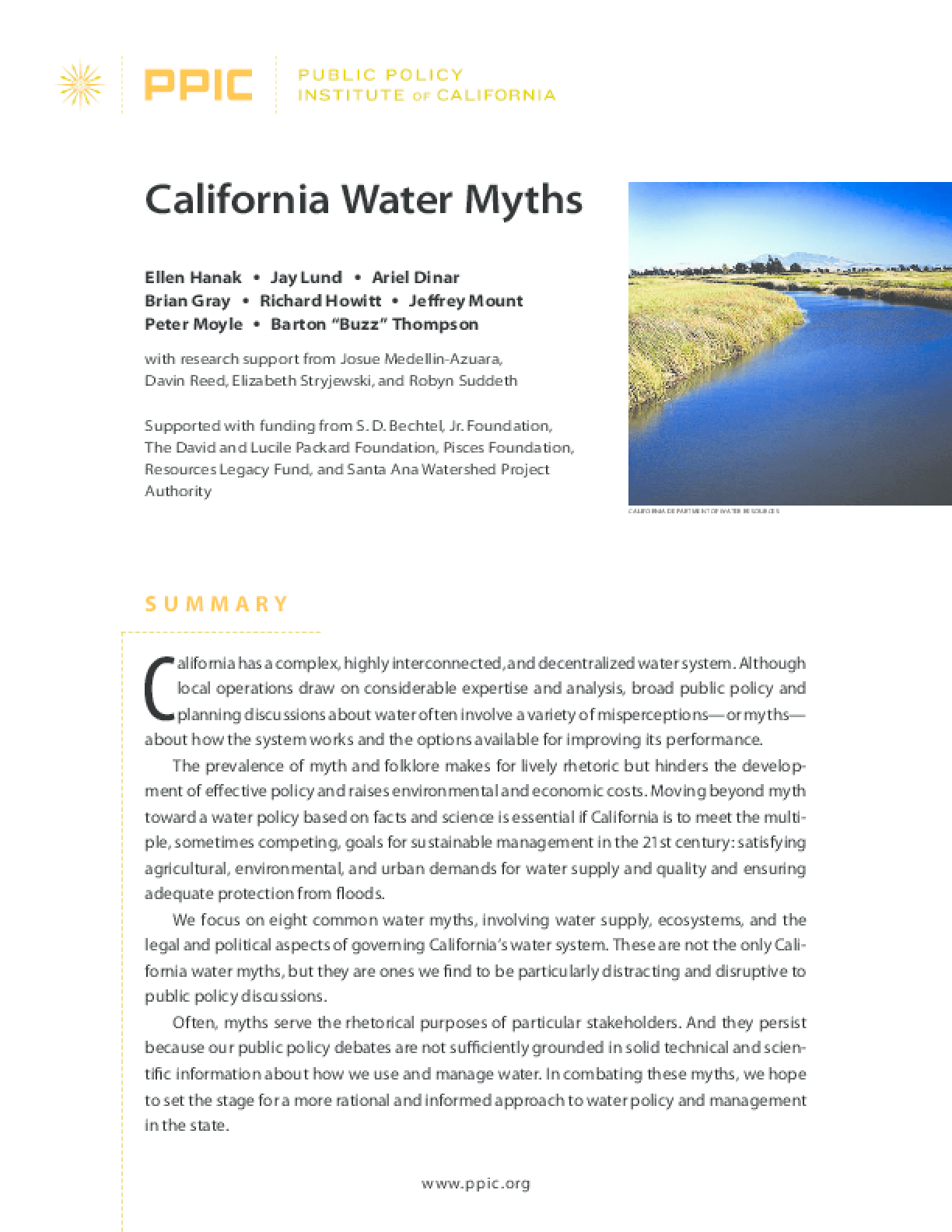 California Water Myths