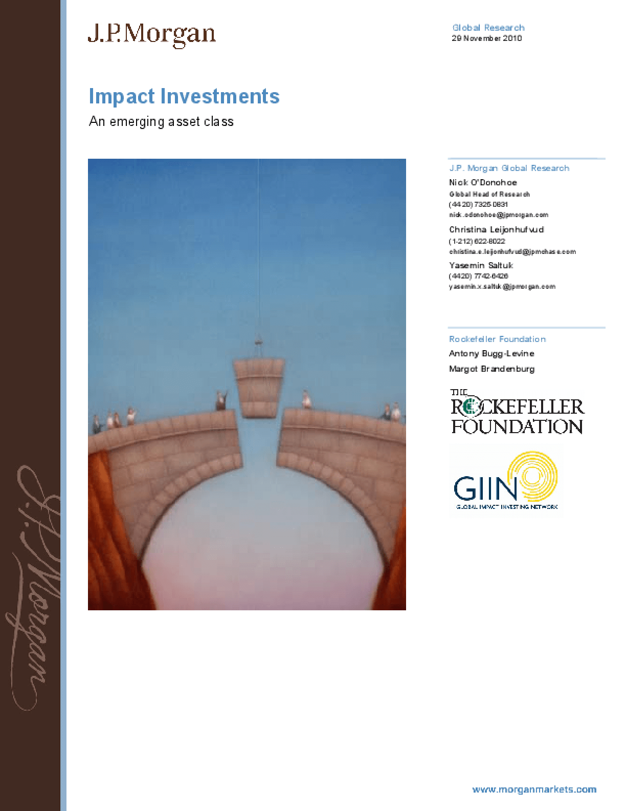 Impact Investments: An Emerging Asset Class