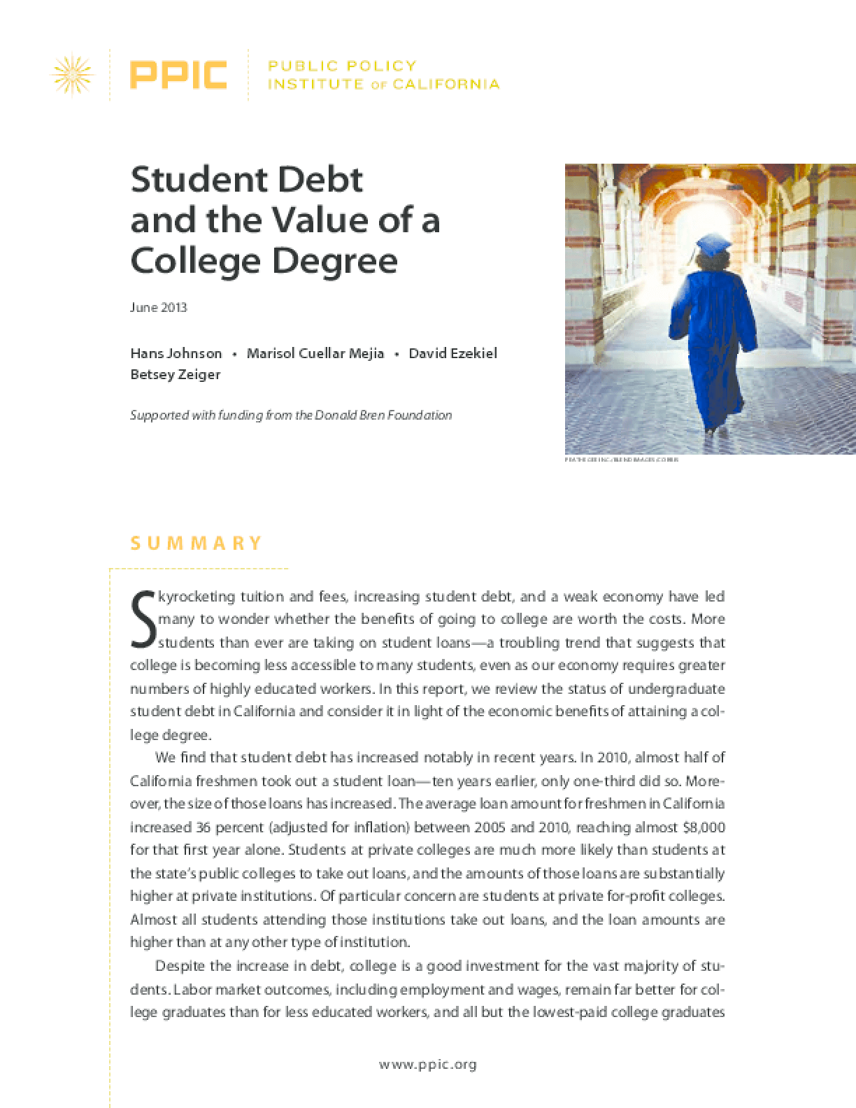 Student Debt and the Value of a College Degree