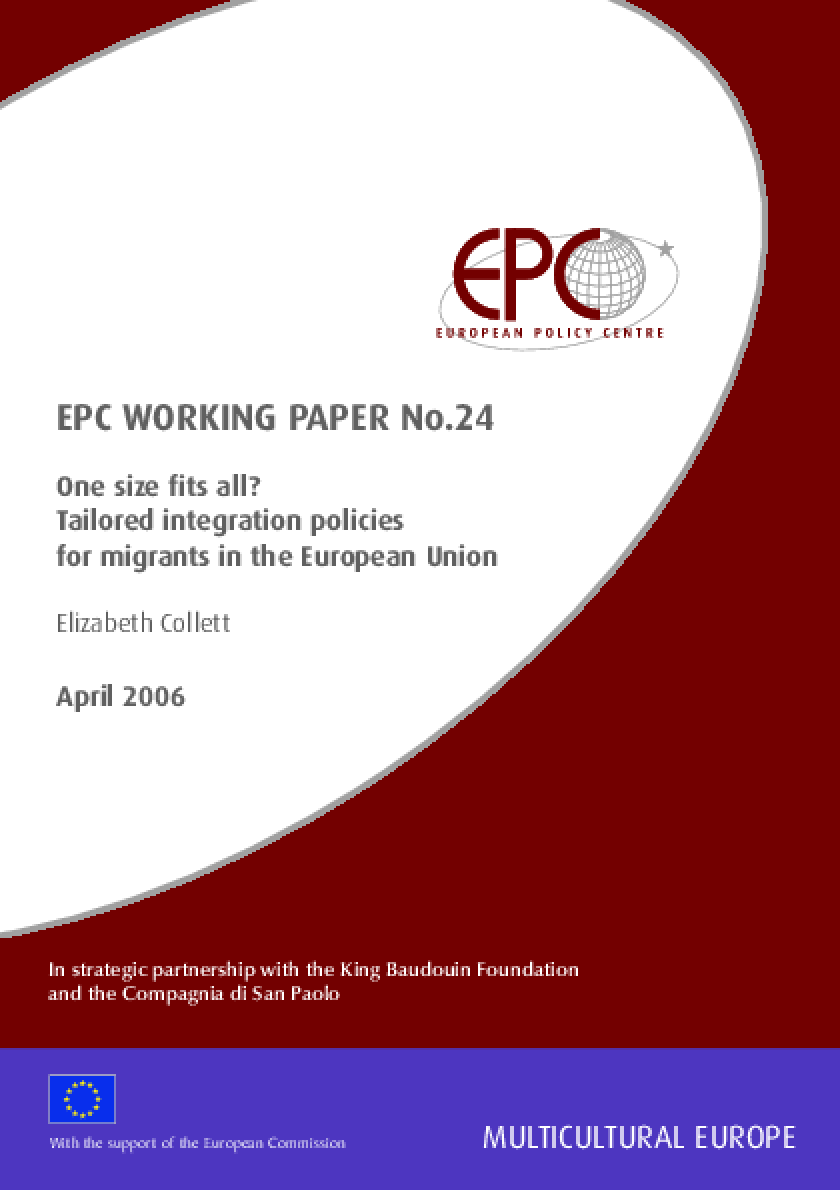 One Size Fits All? Tailored Integration Policies For Migrants in the European Union