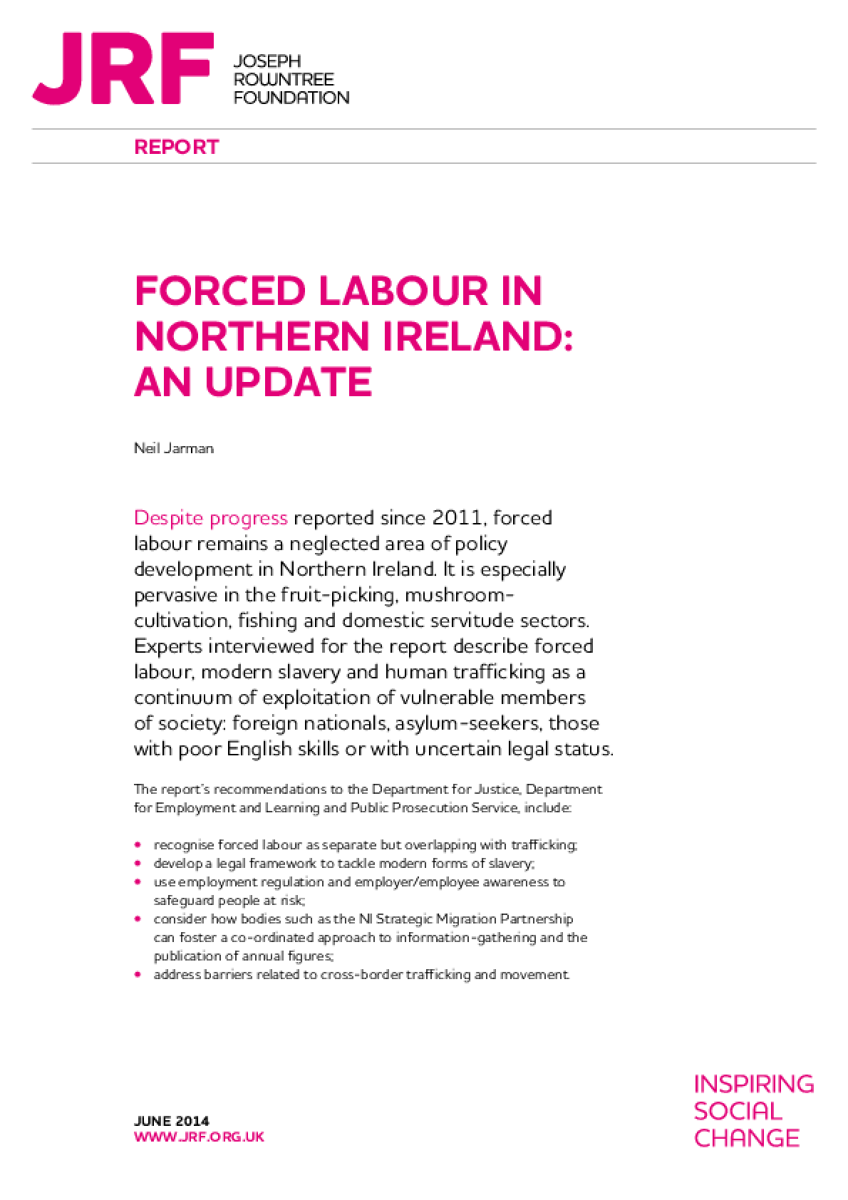 Forced Labour in Northern Ireland: An Update