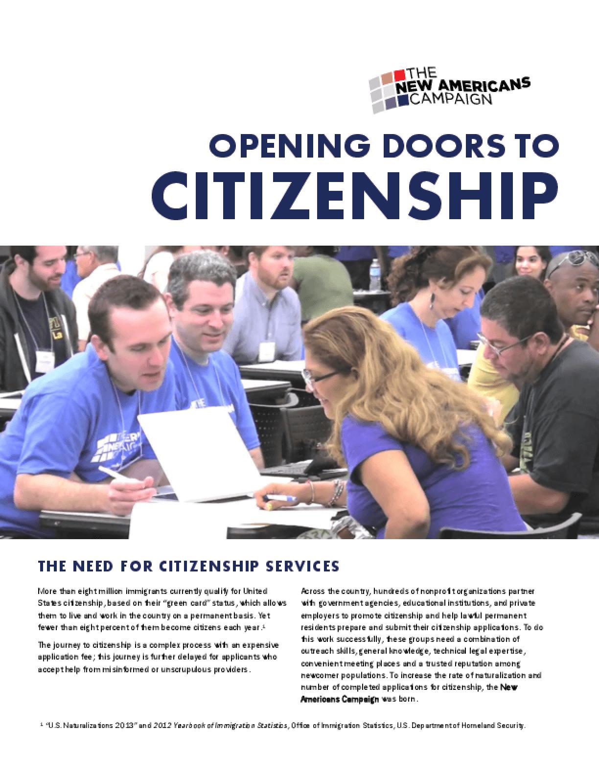 Opening Doors to Citizenship (Summary)