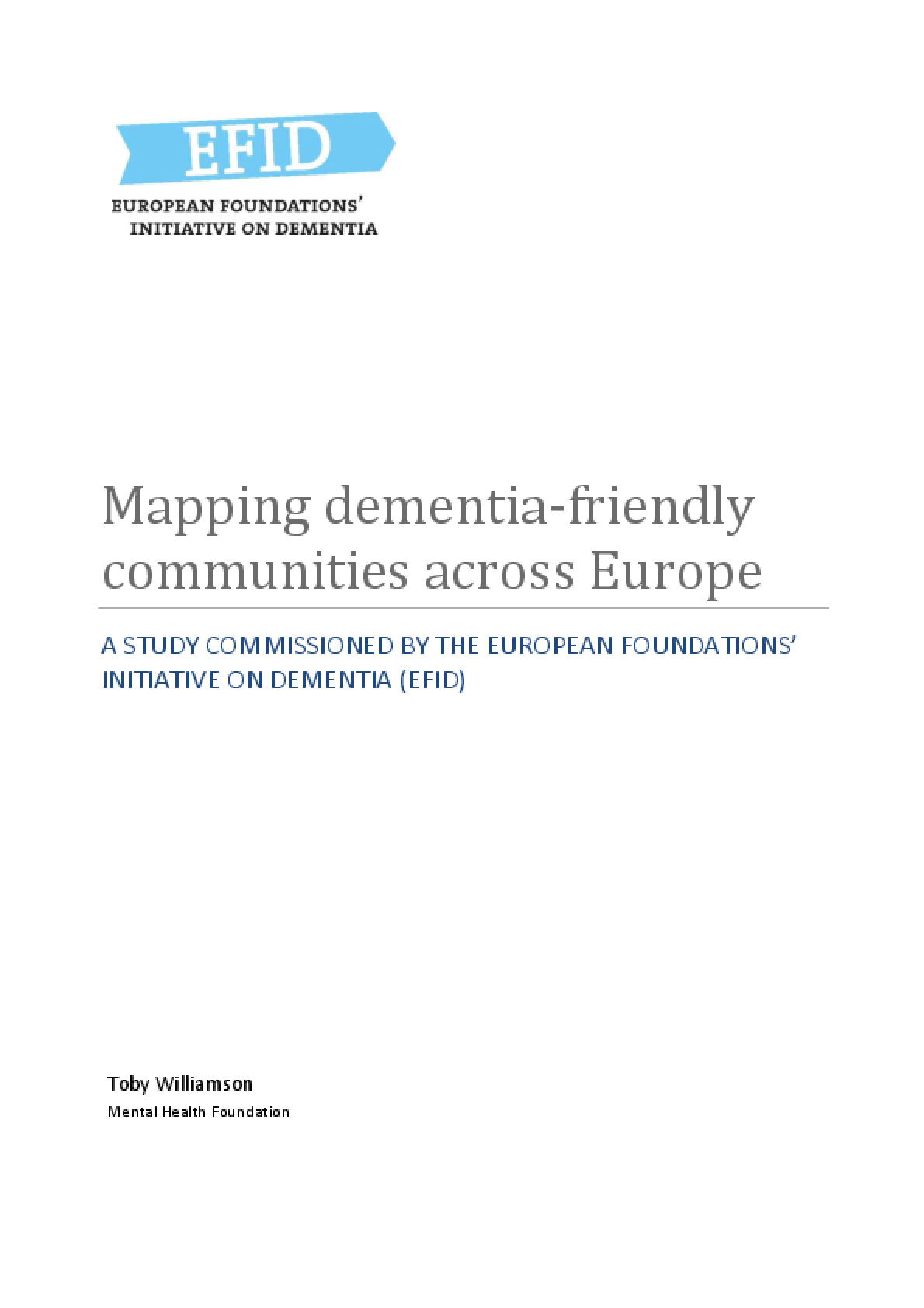Mapping Dementia-Friendly Communities Across Europe