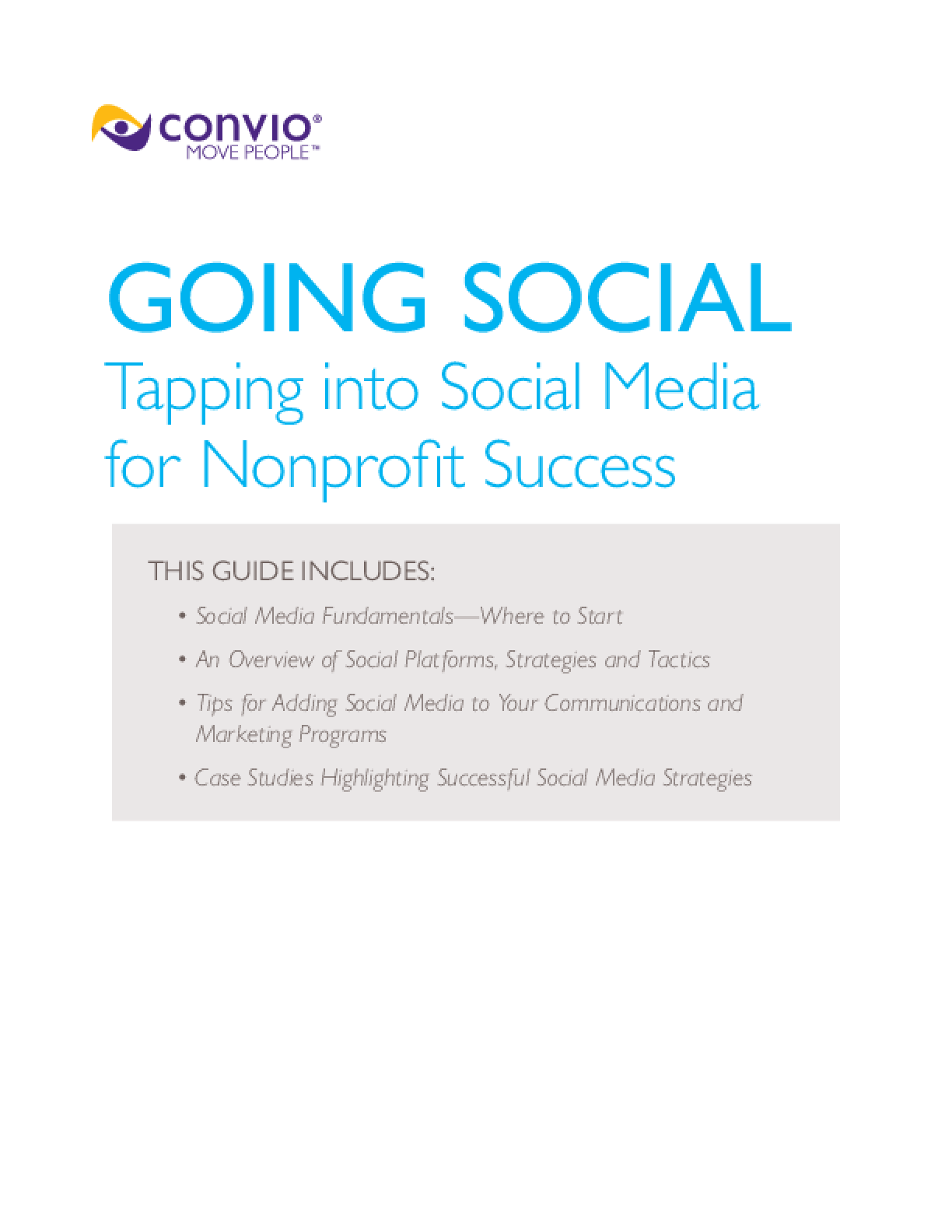 Going Social: Tapping Into Social Media for Nonprofit Success