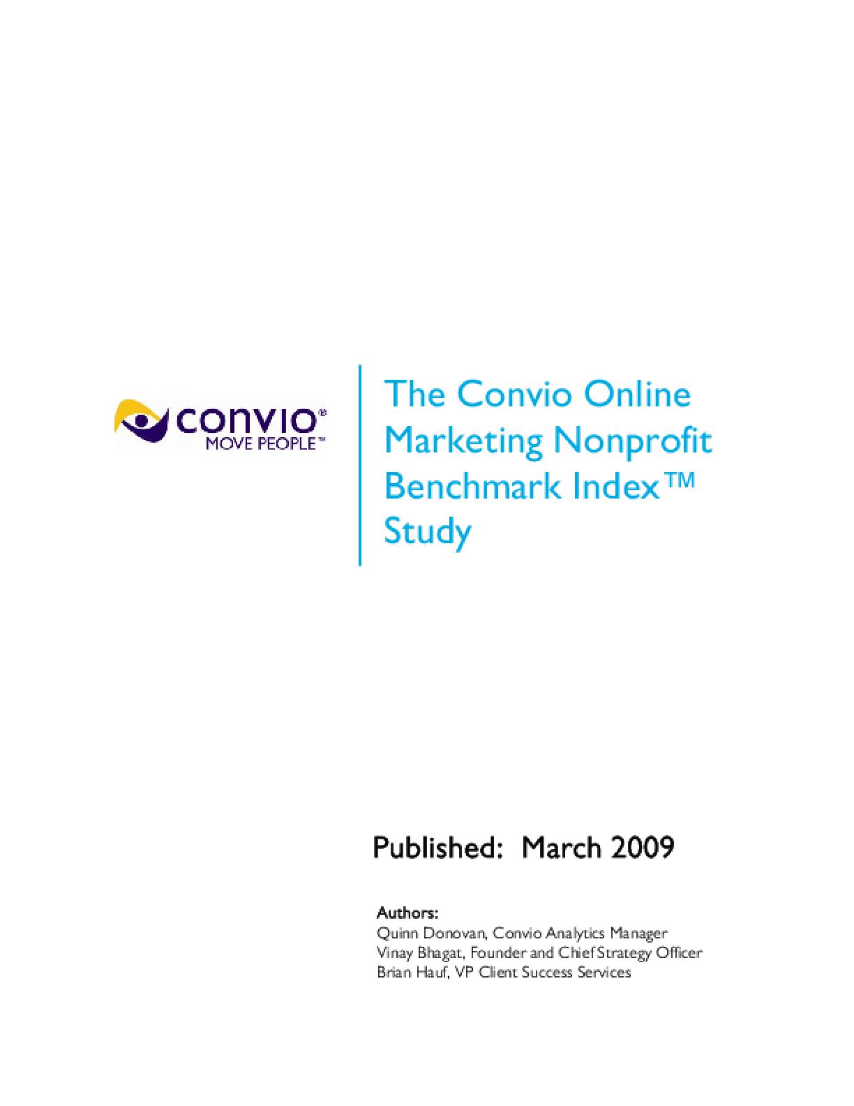 The Convio Online Marketing Nonprofit Benchmark Index Study