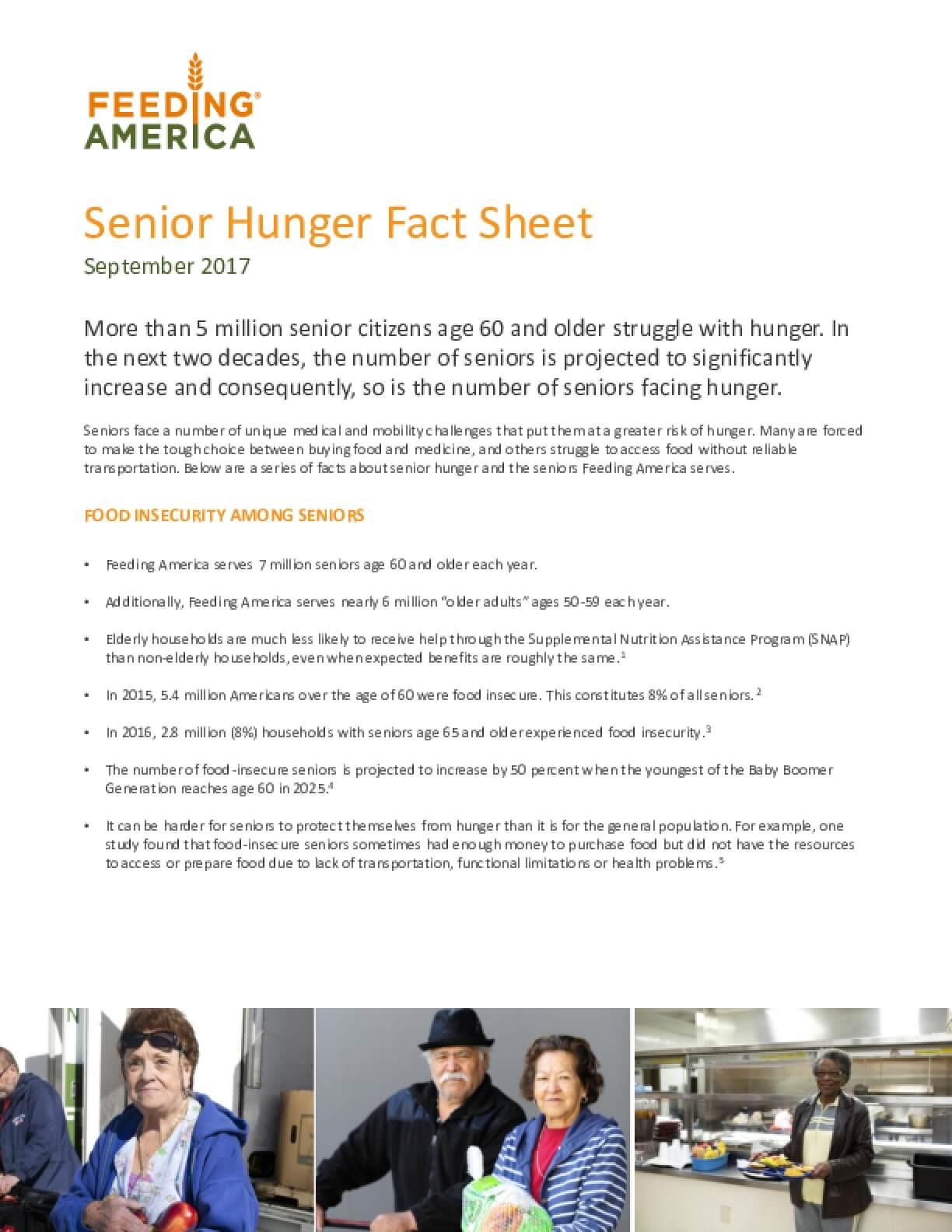 Senior Hunger Fact Sheet