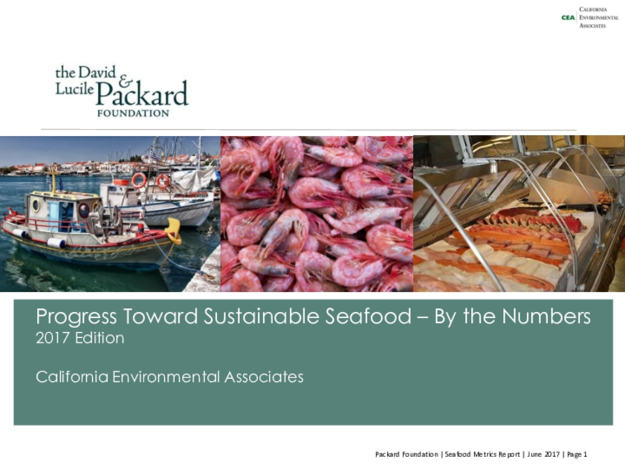 Progress Toward Sustainable Seafood – By the Numbers 2017 Edition