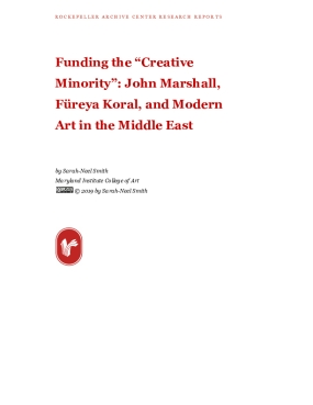 "Funding the ""Creative Minority"": John Marshall, Füreya Koral, and Modern Art in the Middle East"