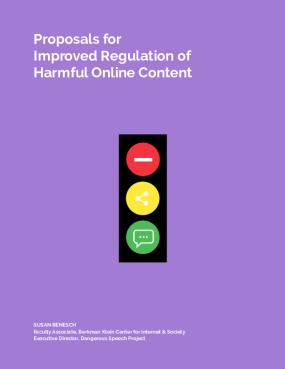 Proposals for Improved Regulation of Harmful Online Content