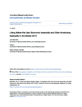 Living Below the Line: Economic Insecurity and Older Americans, Insecurity in the States 2019