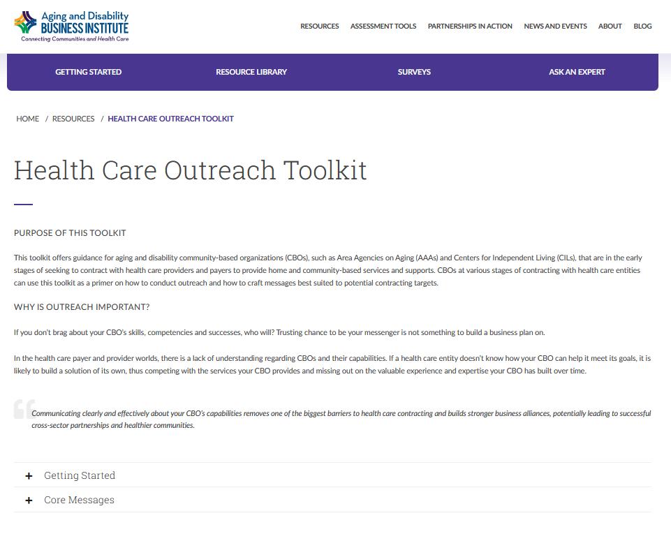 Health Care Outreach Toolkit