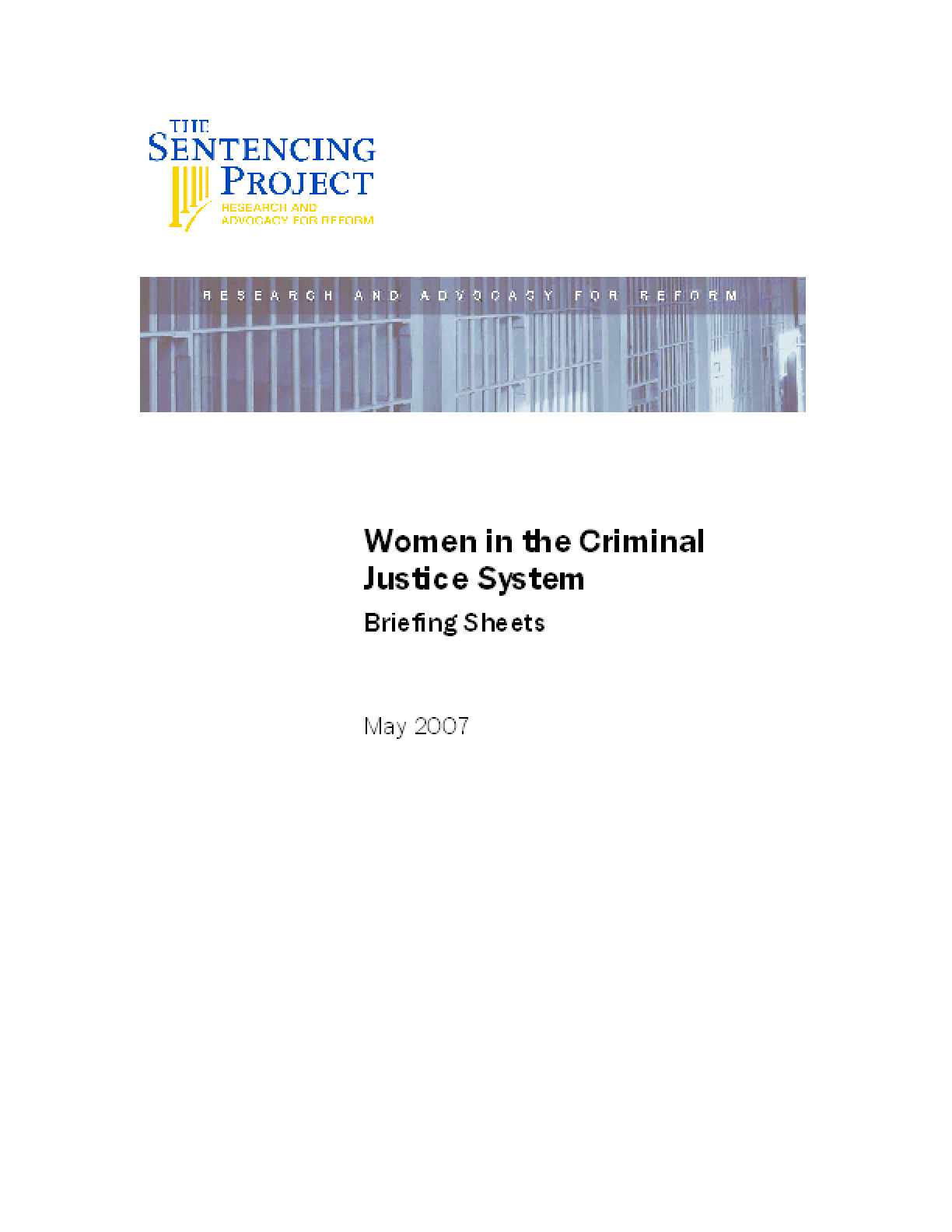 Women in the Criminal Justice System
