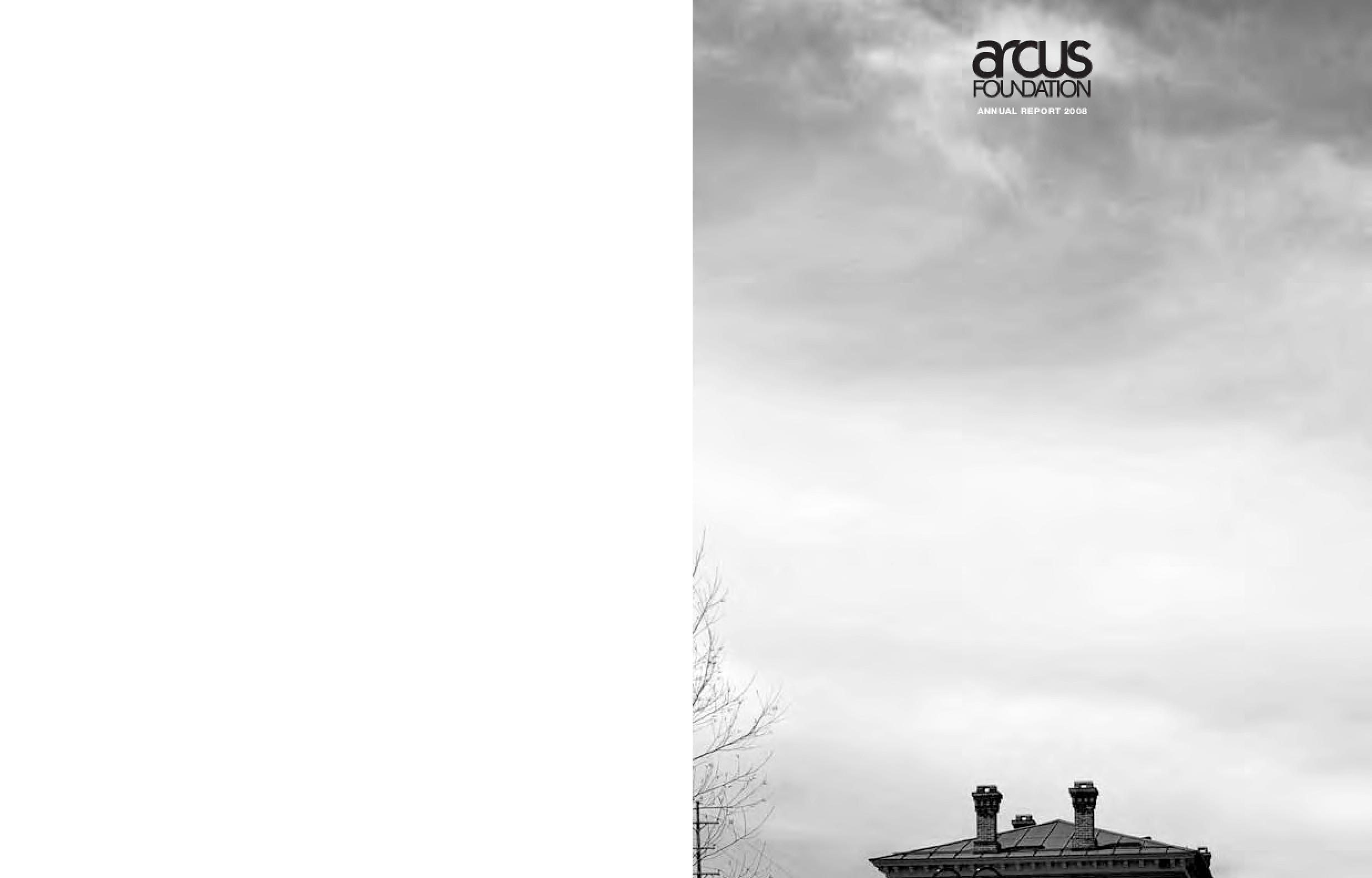 Arcus Foundation - 2008 Annual Report
